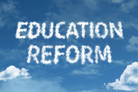Education reform with sky concept
