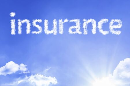 Insurance with sky concept
