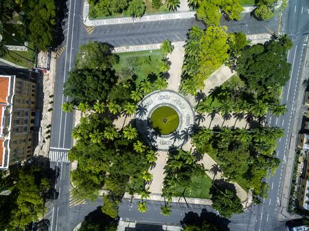 Top view of a garden Archivio Fotografico