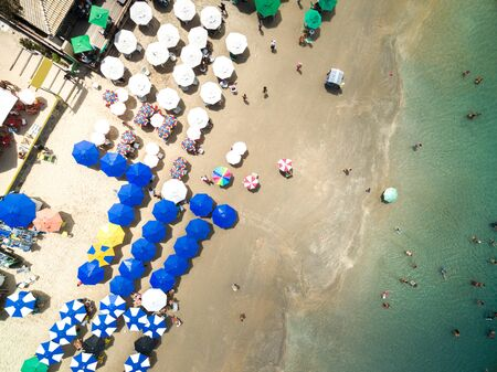 Top view of a beach Imagens