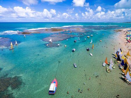 Sailing boats on an ocean