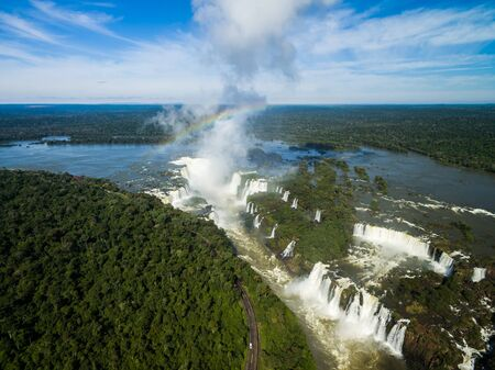 Aerial view of Iguazu falls