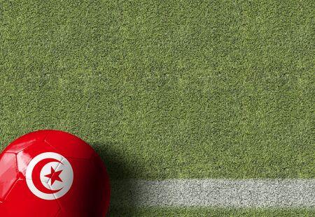 Tunisia themed soccer concept