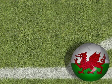 Wales themed soccer concept Фото со стока