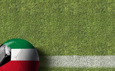Kuwait themed soccer concept Reklamní fotografie