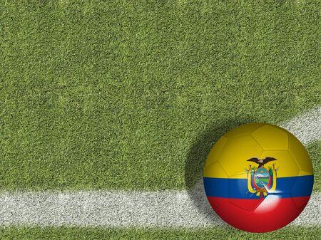 Ecuador themed soccer concept Stok Fotoğraf