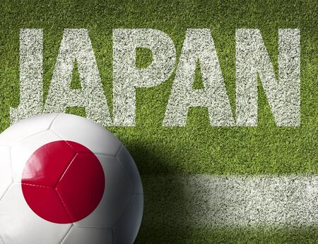 Japan themed soccer concept
