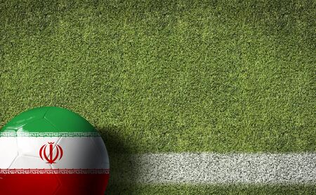 Iran themed soccer concept