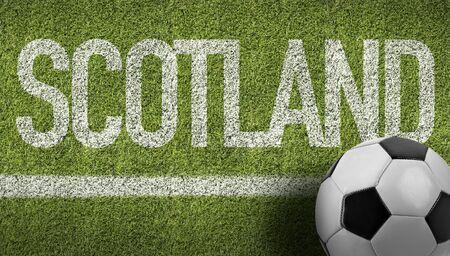 Scotland themed soccer concept Stok Fotoğraf