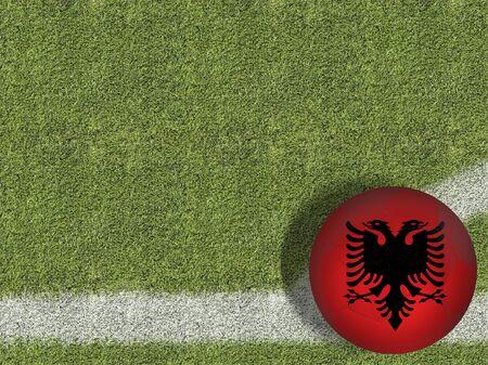 Albania themed soccer concept Archivio Fotografico - 129560566