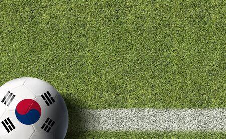 South Korean themed soccer concept Stok Fotoğraf