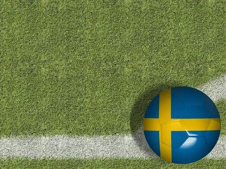 Sweden themed soccer concept