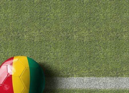 Guinea themed soccer concept Archivio Fotografico - 129560564