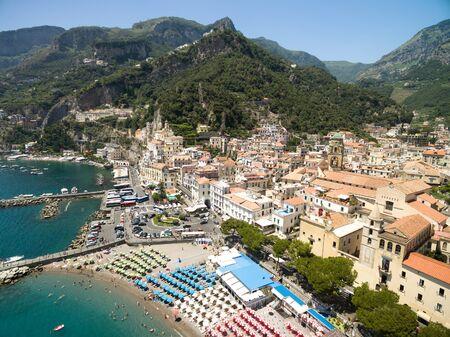 Aerial View of Amalfi in Amalfi Coast, Italy Stockfoto