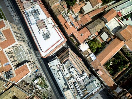 Top view of Palermo, Italy
