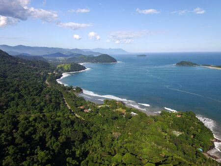 Luftaufnahme von Juquehy Beach, Sao Paulo, Brasilien