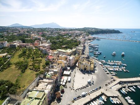 Aerial view of the Procida Island, Italy