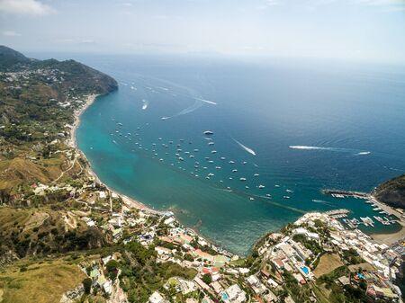 Aerial view of SantAngelo in Ischia island in Italy
