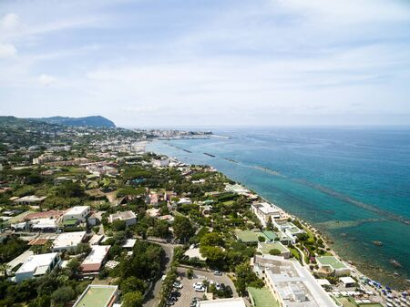 Aerial view of the Ischia Island, Italy Imagens