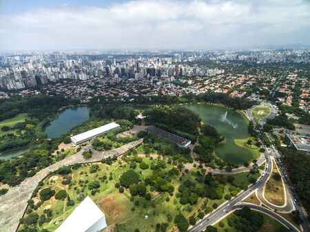 Vue aérienne d'Ibirapuera à Sao Paulo, Brésil