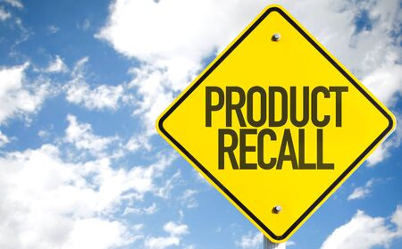 Product recall road sign