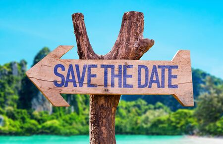 Save the date wooden signage
