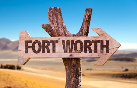Fort worth wooden signage