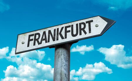 Frankfurt cloud signage