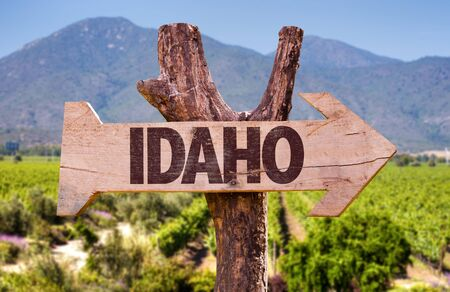 Idaho mountain signage 版權商用圖片