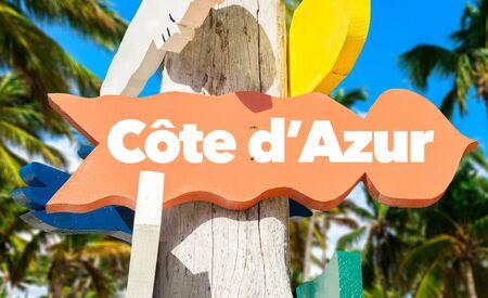 Cote d Azur signage