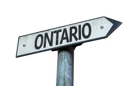 Ontario signage on white background