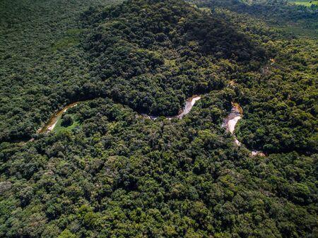 Top view of river in rainforest, Brazil Stok Fotoğraf