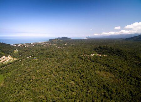 Aerial view of rainforest, Brazil