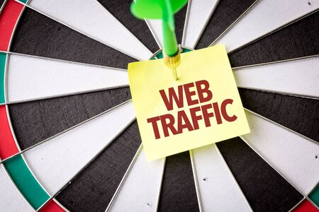 Dart with the words Web Traffic