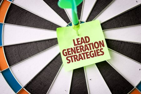 Dart with the words Lead Generation Strategies