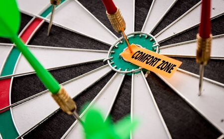 Darts with the words Comfort Zone