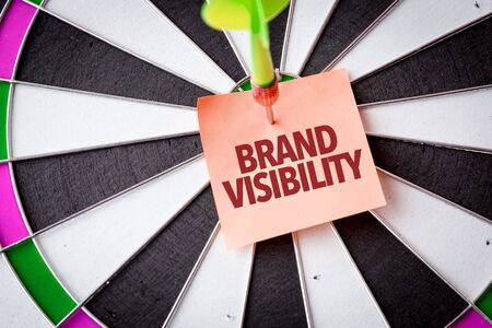Dart with the words Brand Visibility