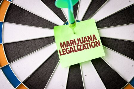 Dart with the words Marijuana Legalization