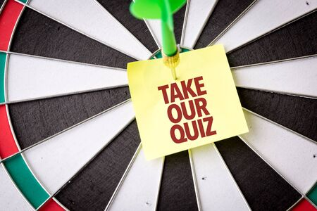 Dart with the words Take Our Quiz