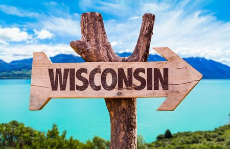 Wisconsin written on a direction sign