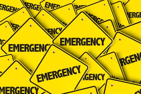 Signs with the word Emergency