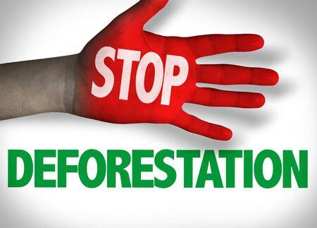 Stop Deforestation concept Stock Photo