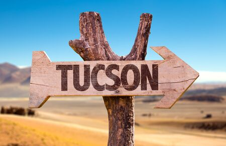 Tuscon written on a direction sign Stock fotó