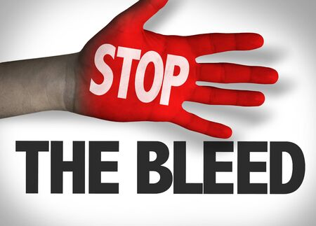 Stop The Bleed concept Stock Photo