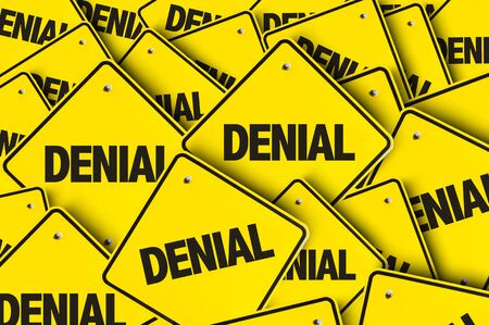Signs with the word Denial