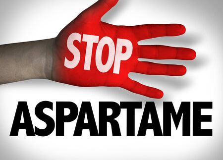 Stop Aspartame concept