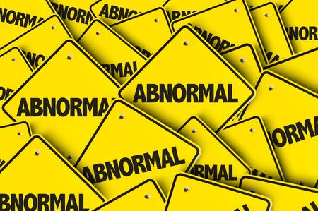 Signs with the word Abnormal Stock fotó