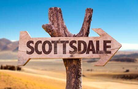 Scottsdale written on a direction sign