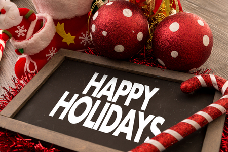 holidays: happy holidays Stock Photo