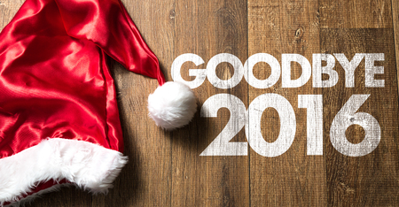 december 25: Goodbye 2016 Stock Photo